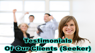 Testimonials Of Our Clients (Seeker)