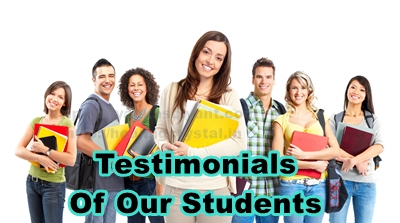 Testimonials Of Our Students